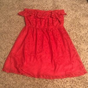 Maurice's XL Strapless Bright Pink Dress